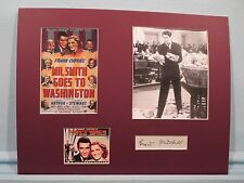 """""""Mr. Smith Goes to Washington"""" starring James Stewart & signed by Grant Mitchell"""