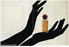 Publicité Advertising 1972 (2 pages) Parfum Audace de Rochas