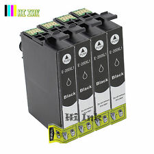4PK T200XL Black Ink High Yield for Epson XP 300 310 400 410 WF2530 2530 2540