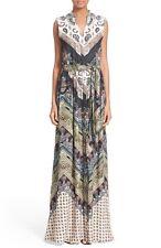 """Alice+Olivia """"Marianna"""" Mixed Print Maxi Dress, Size 8"""