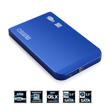 USB 2.0 2.5inch SATA HDD Hard Drive Disk External Box Case Cover + Cable + Pouch