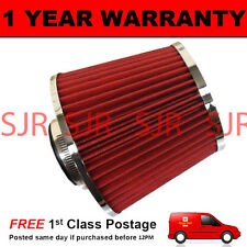 RED & CHROME UNIVERSAL HIGH POWER UPGRADE AIR FILTER WITH ADAPTORS 60 65 70 76