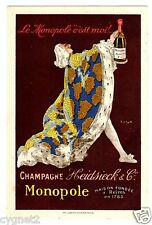 POSTCARD FRENCH CHAMPAGNE MONOPOLE HEIDSIECK SIGNED J. STALL1931