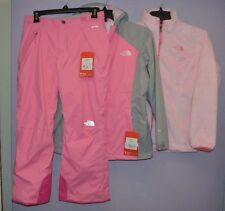 The North Face Girls Osolita Triclimate Jacket Mossbud Freedom pant Ski Snow  M