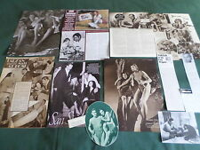 JOHNNY WEISSMULLER  - FILM STAR  - CLIPPINGS /CUTTINGS PACK