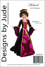"Medieval Gown Pattern for 16"" Ellowyne Wilde Dolls Tonner"