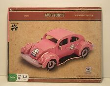 Noodle Your IQ 3-D Wood Puzzle, Volkswagen Bug, New Sealed