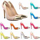 Womens Patent High Heels Stilettos Platform Pumps Shoes Size UK 2 3 4 5 6 7 8 9