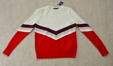 Maje Milk Color-Block Sweater Size 1 US XS/S