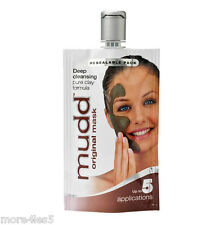 Mudd ORIGINAL Face Mask 50ml  Deep Cleansing Pure Clay Formula 5 App resealable