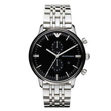 Emporio Armani Silver/Black Quartz Analog  Men's Watch AR0389