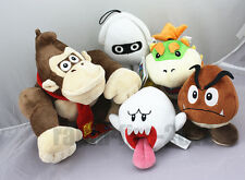 5x Super Mario Goomba, Blooper, Boo Ghost, Donkey Kong, Bowser Jr.Plush Doll Toy