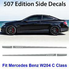AMG Edition C63 507 Side Stripe Decals Stickers Mercedes Benz C Class W204 Grey