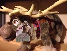 """NEW with tag Sven Reindeer Plush 16"""" Frozen 2013 Disney Store Authentic Patch Ft"""