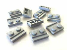 *NEW* 10 Pieces Lego Lot PLATE 1x2 BLUISH GRAY with DOOR RAIL