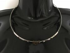 SLUT Collar Solid Neck Band Necklace Jewellery Jewelry Hotwife Slutwife Bronze