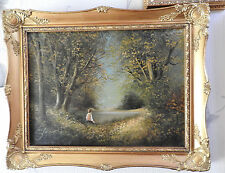 Original painting, Les Parson,gilt ornate framed,signed oil on canvas, fisherman