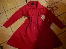 BORIS INDUSTRIES Mantel Kleid 48 50 NEU kirschrot Druckknöpfe + Tasche LAGENLOOK