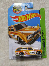 1971 DATSUN BLUEBIRD 510 WAGON ESTATE YELLOW HOT WHEELS MINT IN BOX ON LONG CARD