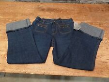 DKNY Jeans Large Cuff Season In The Sun SOHO Convertible Pant Size 6 NWT $69