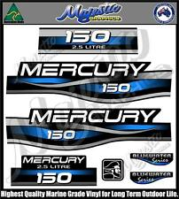 MERCURY 150 hp - 2.5 Litre - BLUE - DECAL SET - OUTBOARD DECALS