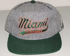 Vintage 90s U Miami HURRICANES STARTER SnapBack SCRIPT HAT NWT New Old Stock NOS