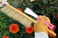 Stainless steel hive tool and Natural bristle bee brush