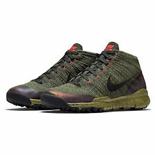 Mens Nike Flyknit TRNR Chukka FSB Trainers Boots Shoes Green 805092 300 UK 9.5
