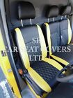 TO FIT A VW TRANSPORTER T5 VAN, SEAT COVERS, 2006, BLACK YELLOW BENTLEY DIAMOND