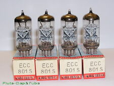 NOS OB 1970's Telefunken ECC801S     Matched Quad tubes,Berlin W-Germany.