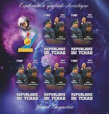 VOSTOK 1 space Yuri Gagarin Nikita Khrushchev Tchad 2013 m/s tchad2013-15 IMPERF