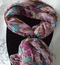 Foulard + écharpe anneau ensemble cadeau rose splodge + black & gold ring + sac cadeau
