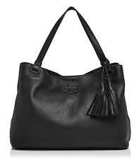 NWT TORY BURCH $495 BLACK THEA CENTER ZIP TOTE BAG