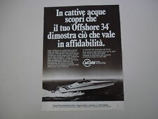 advertising Pubblicità 1979 OFFSHORE CIGALA E BERTINETTI