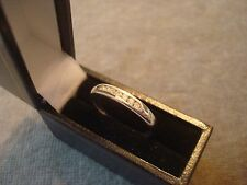 LADIES .750 18CT WHITE GOLD DIAMOND 10ct  RING 2.6g SIZE O BOXED REF 0762