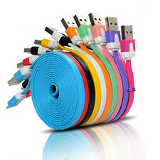 1M 3FT Flat Noodle USB Sync Data Charger Cable For Samsung S3 S4 S5 for HTC