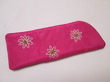 Pink Daisy Flower Reading Glasses Case Sleeve Pouch Spectacle Glasses Bag#7F9