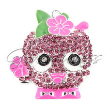 45x39mm Apple Blossom Shopkins Inspired Rhinestone Pendant for Chunky Necklace