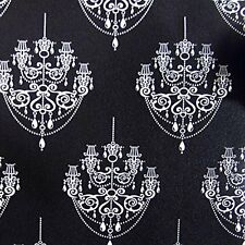 1m * Black&White Chandelier Pattern Sheet Contact Paper Self-adhesive Wallpaper