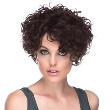 CASCADE Premium Remy 100% Human Hair Wig, * STYLISH CURLS * Natural Black *