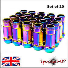 BLOX NEO LUG WHEEL NUTS 52MM M12x1.5 fit MAZDA MX5 HONDA TOYOTA MITSUBISHI FORD