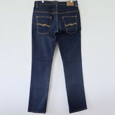NUDIE MENS JEANS TAPE TED ORGANIC DENIM NJ3734 38x36 MADE ITALY SLIM FIT 16 DIPS
