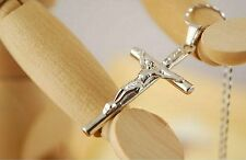 Jesus Christ Cross Pendant Necklace Crucifix with Jesus on the Cross L548
