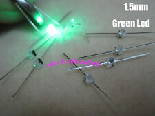 20pcs 1.5mm Mini Green Water Clear LED Leds Made in Taiwan + Resistors for 12V
