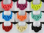 Fashion New In Chunky Twist Pendants Neon Cord Weave Statement Choker Necklaces