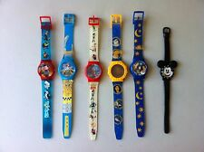 Vintage Disney 1990s Lot of Six Children Watches Collection Christmas Gift