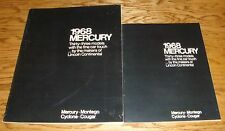 Original 1968 Mercury Regular & Deluxe Full Line Sales Brochure Lot of 2 Cougar