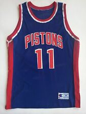 Authentic Vintage Isiah Thomas Detroit Pistons Champion NBA Jersey SZ 48 Rare!