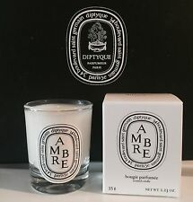 Diptyque Paris AMBRE Bougie Candle 35g 1.23oz New In Box AMBER