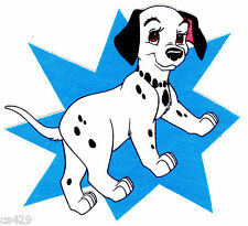 "7.5"" DISNEY DALMATIANS DOG CHARACTER FABRIC APPLIQUE IRON ON"